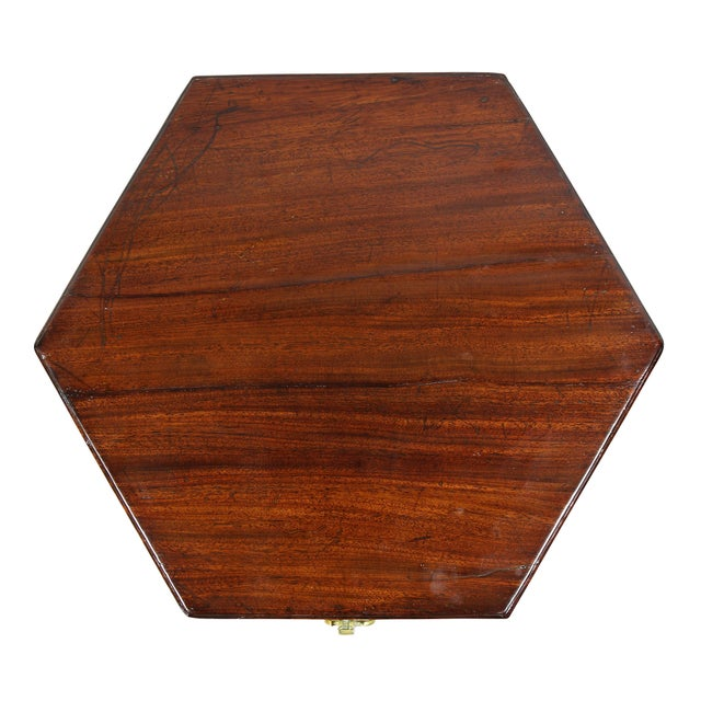 Traditional George III Mahogany and Brass Mounted Celleret For Sale - Image 3 of 11
