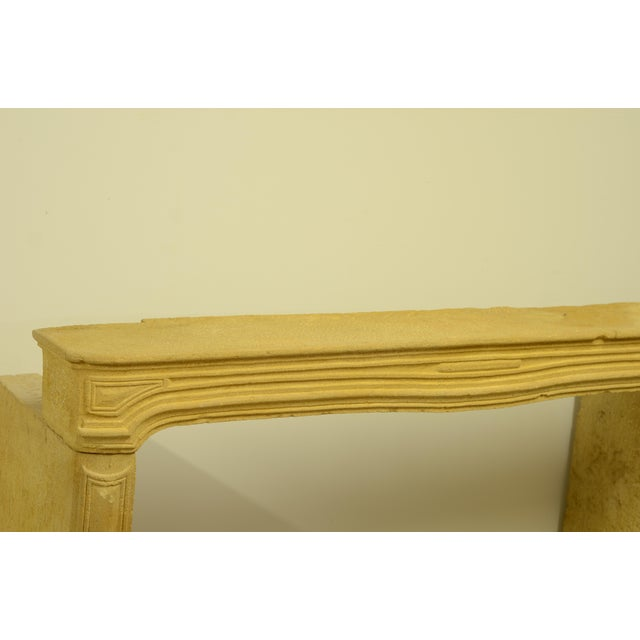 19th Century Antique Limestone Fireplace From France, 19th Century For Sale - Image 5 of 12