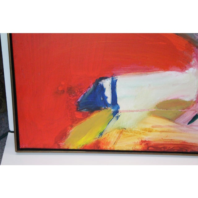 Mid 20th Century Red Caldwell Abstract Scene Oil Painting For Sale - Image 5 of 8