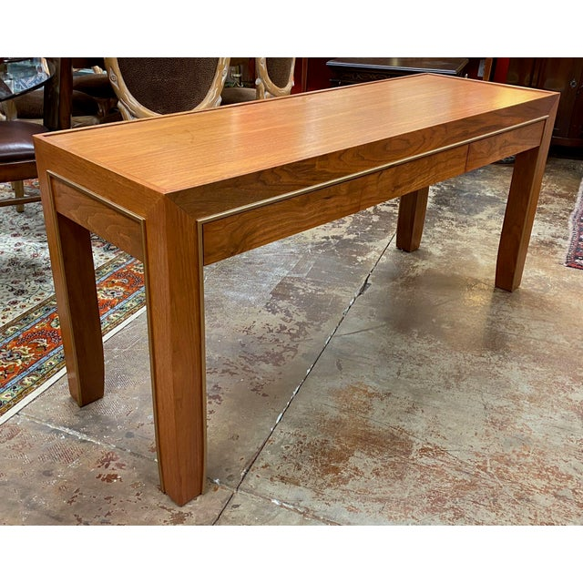 Late 20th Century Mid-Century Modern Console Table For Sale - Image 5 of 12