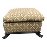 Image of Brunschwig & Fils Custom Fabric Footstool For Sale