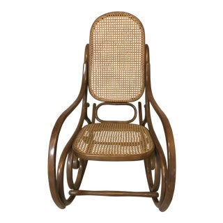 Bentwood Cane Back No. 10 Rocking Chair For Sale