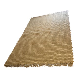 Natural Two Tone Woven Jute Rug 8' X 12' For Sale