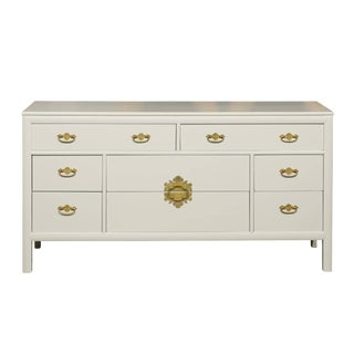 Restored Vintage Chest by Century Furniture in Cream Lacquer