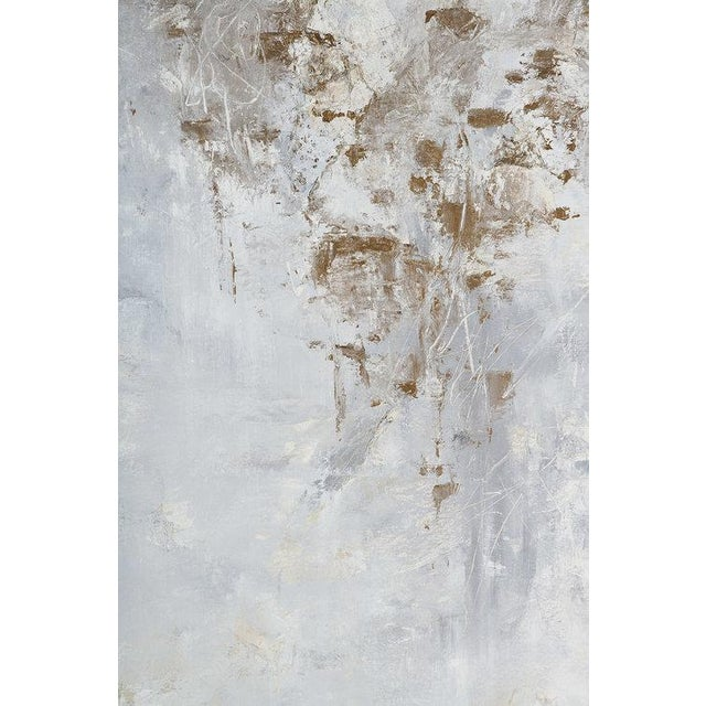 This beautifully textured abstract composition created by Chicago artist Jane Lorentsen consists of oil, acrylic and...