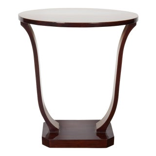 French Art Deco Two-Tone Mahogany Tulip Table, Circa 1920 For Sale