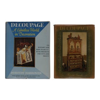 1960's Decoupage Hardcover Books, Set of 2
