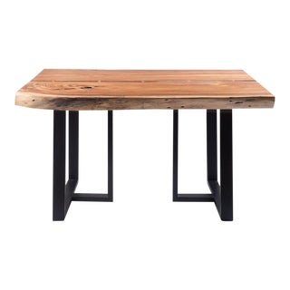 Industrial Live Edge Small Dining Table With Butterfly Joints - 55x37 For Sale