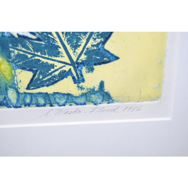"Circa 1986 Sasha Wasko ""Life Cycle - Fall"" Aquatint Etching For Sale - Image 4 of 10"