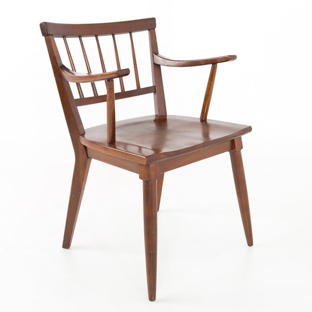 Mid Century Paul McCobb Style Cherry Dining Chairs - Set of 8 For Sale In Chicago - Image 6 of 13