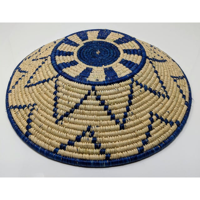Raffia Large Woven Ugandan Basket For Sale - Image 7 of 8