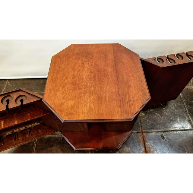 1920s Art Deco English Oak Drinks Cabinet / End Table / Bookcase by Heal & Son For Sale In San Diego - Image 6 of 7