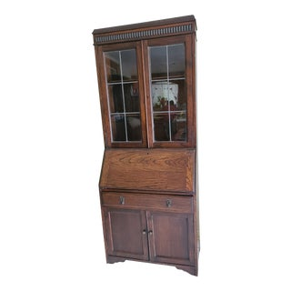 Antique Oak Secretary Desk With Hutch/Bookcase For Sale