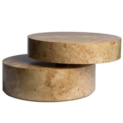 Burled Maple Pivot Coffee Table - Image 2 of 3