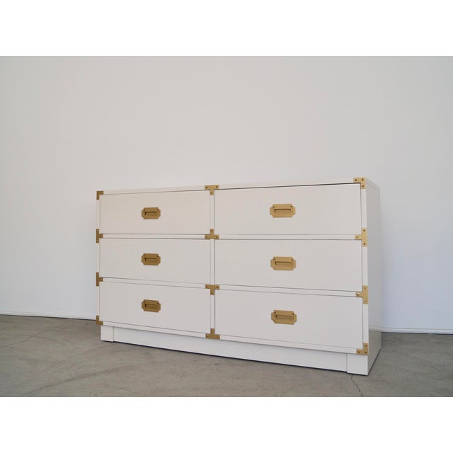 1960's Mid-Century Hollywood Regency Campaign Dresser For Sale In Los Angeles - Image 6 of 13