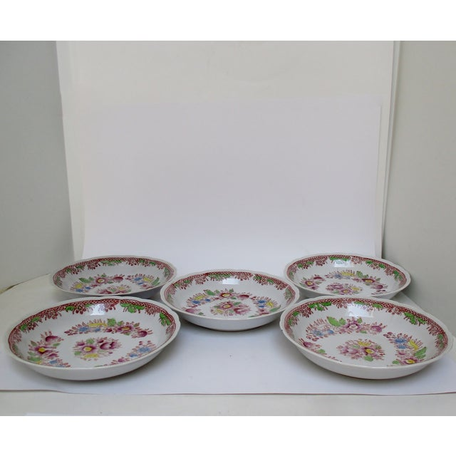 Mid 20th Century Japanese Mikori Bowls, Set of 5 For Sale - Image 5 of 9