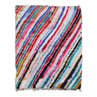 20th Century Moroccan Multi-Color Wool Boucherouite Rug