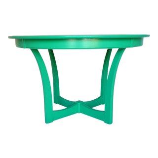 Kelly Green Gloss Mid-Century Dining Table