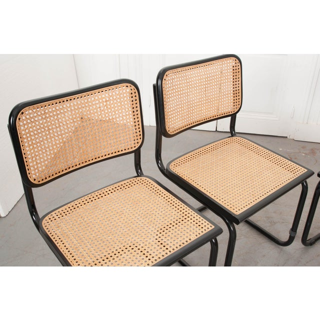 Early 20th Century Vintage Bauhaus-Style Steel Side Chairs - Set of 4 For Sale - Image 5 of 10