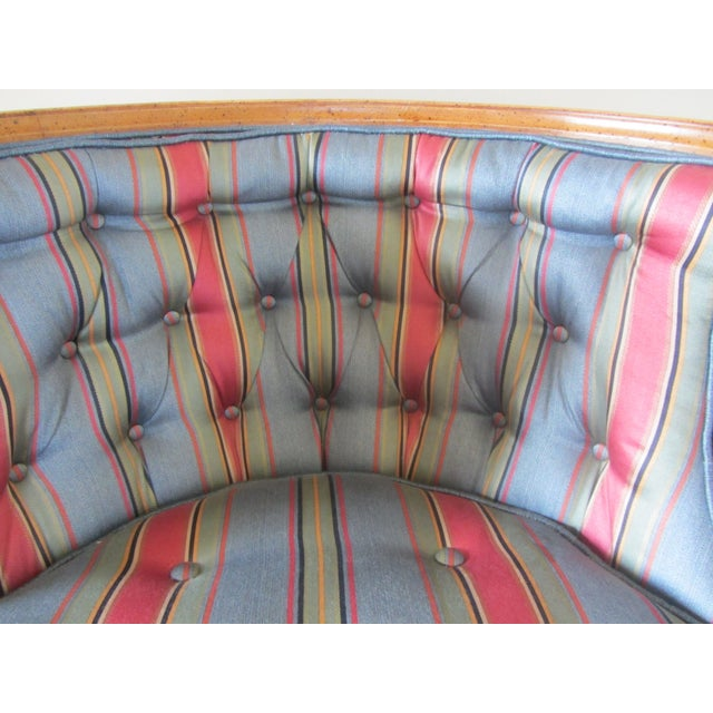 Mid-Century Modern Blue Tub Chair - Image 6 of 6