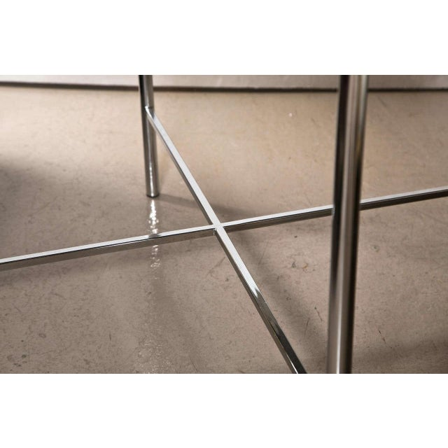 Jansen Mid-Century Style Chrome Side Tables - Pair - Image 6 of 7
