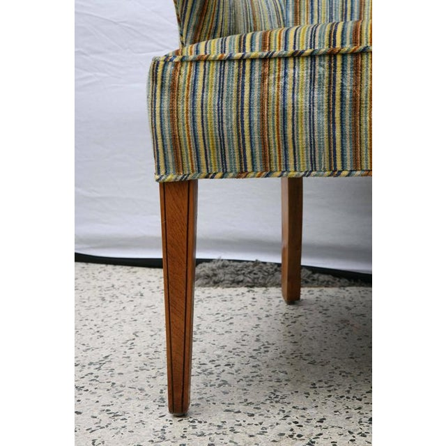 Blue Heywood Wakefield Upholstered Chair, 1960s, USA For Sale - Image 8 of 8