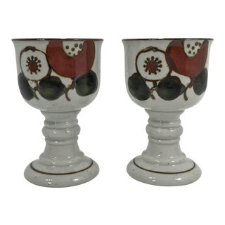 Scandinavian Handmade Chalices, a Pair For Sale