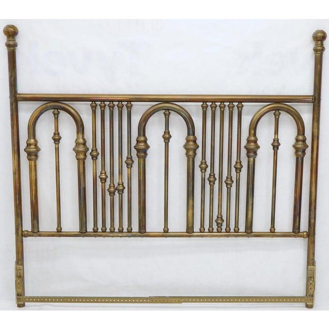 Hollywood Regency King Size Large Brass Headboard For Sale - Image 3 of 12