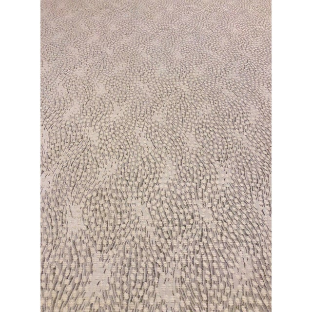 2010s Old World Weavers Flurry - Modern Snow Grey & White Multipurpose Fabric - 4.75 Yards For Sale - Image 5 of 5
