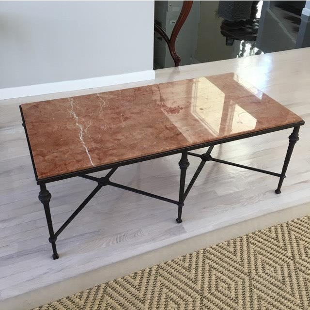 Iron Marble Top Coffee Table