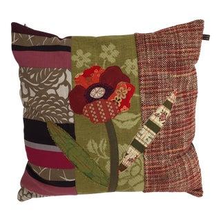Handmade Patchwork Flower Pillow