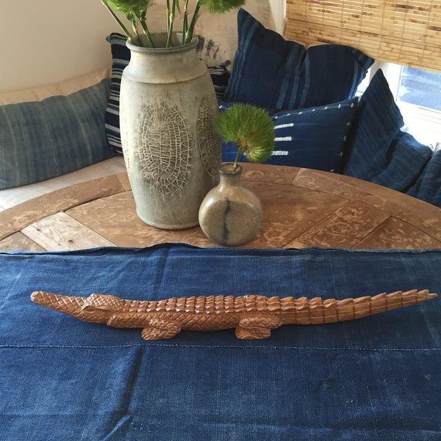 Vintage Hand Carved Tramp Folk Art Alligator - Image 3 of 6