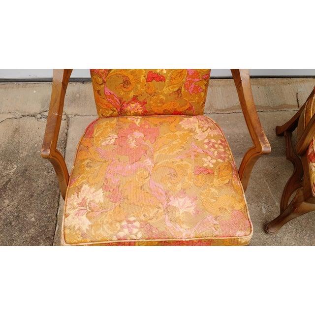 Jim Peed Esperanto Drexel Wingback Chairs - A Pair - Image 8 of 11