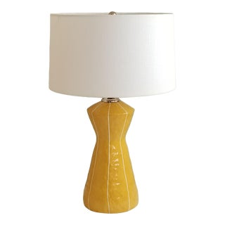 kRI kRI Studio Modern Handmade Yellow Ceramic Lamp For Sale