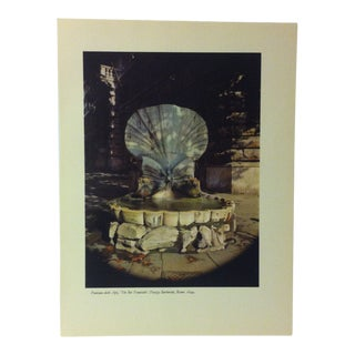 """1957 """"Fontana Delle Api - the Bee Fountain"""" the Influence of the Shell to Humankind Print For Sale"""