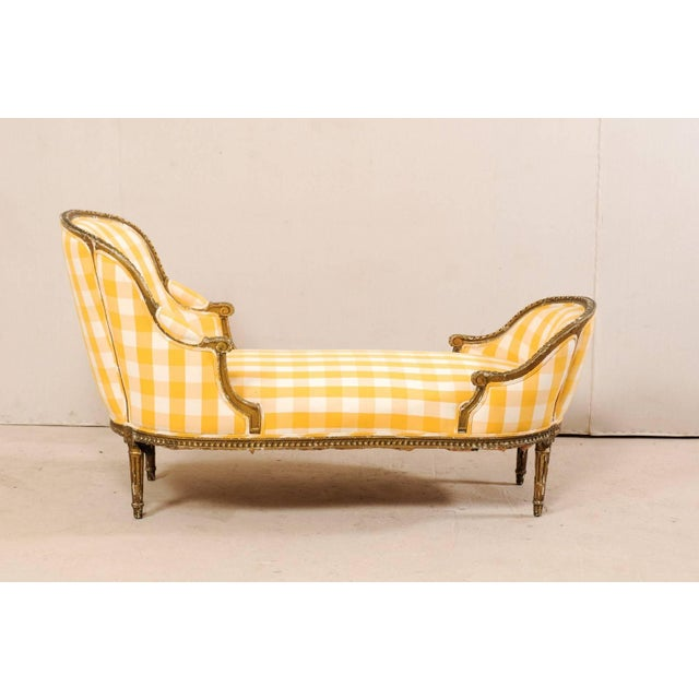 Late 19th Century Turn of the Century French Louis XVI Style Chaise For Sale - Image 5 of 11