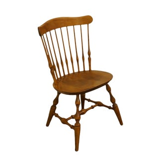 Late 20th Century Vintage Nichols & Stone Rock Maple Spindle Back Dining Side Chair For Sale
