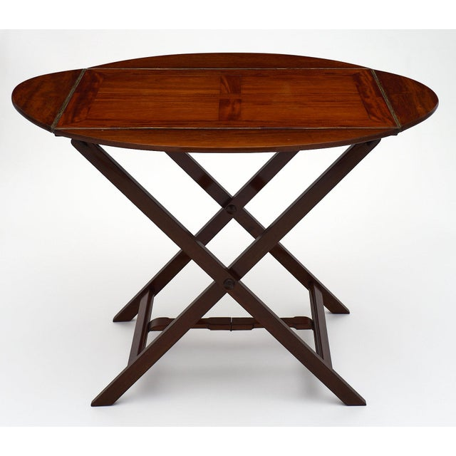 Campaign English Campaign Style Mahogany Tray Table For Sale - Image 3 of 10