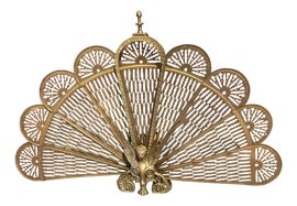 Image of Peacock Fireplace Screens