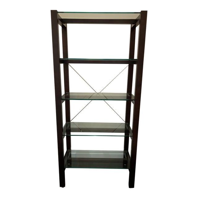 Williams Sonoma Home Glass Bookcase For Sale
