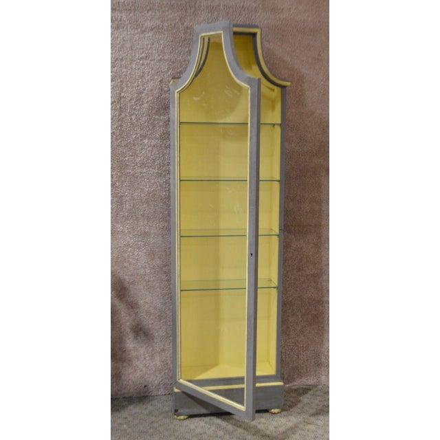 Vintage Distressed Painted Venetian Style Curio Cabinet - Image 9 of 11