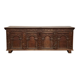 Early 18th Century Marriage Chest For Sale