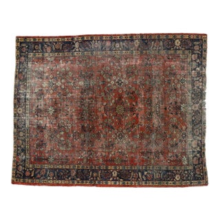 Antique Persian Mahal Rug - 09'10 X 12'08 For Sale