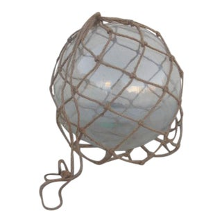 Large Clear Glass Fishing Float With Net For Sale