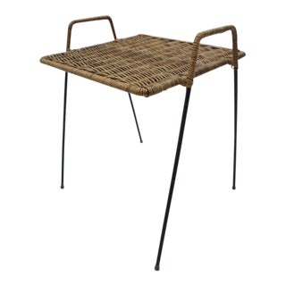 Rattan Cocktail Table For Sale