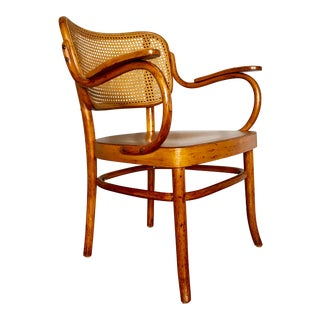 Thonet Bentwood and Cane Armchair