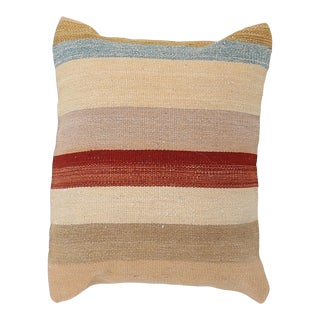 Arteverk Vintage Hand Woven Colorful Stripe Modern Kilim Pillow For Sale