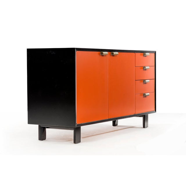 Herman Miller George Nelson Orange Credenza For Sale - Image 4 of 13