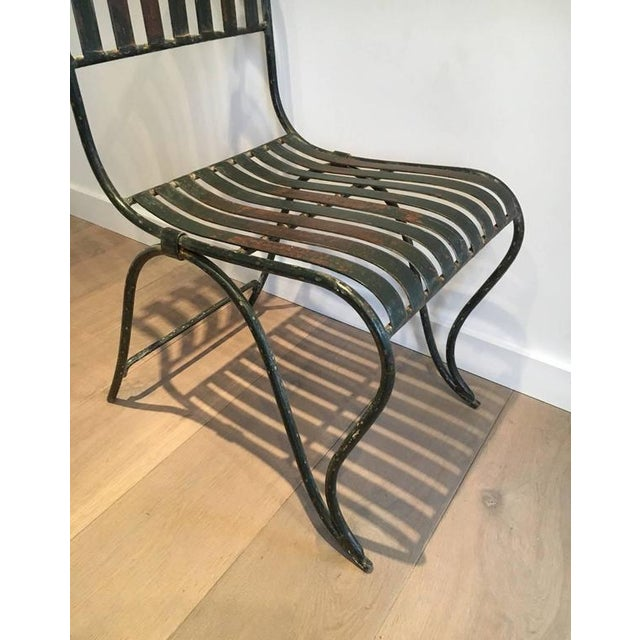 French Wrought Iron Garden Chair - Image 8 of 11