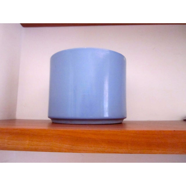 Gainey Ceramics Blue Architectural Pottery Planter For Sale - Image 9 of 11